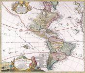 Severní a Jižní Amerika – Iohannes Baptista Homann