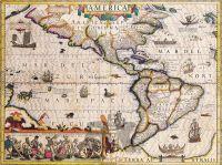 Severní a Jižní Amerika – Jodocus Hondius